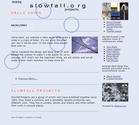 Slowfall Projects