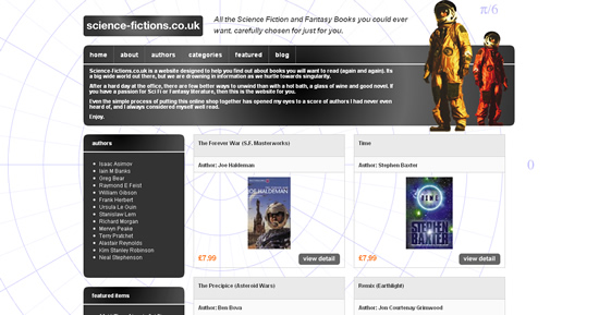www.Science-Fictions.co.uk - Books for Sci Fi and Fantasy lovers